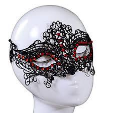 lace mask yazilind design masquerade party fancy dress black