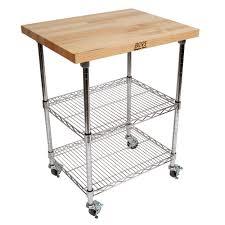 Boos Kitchen Islands Sale Kitchen Carts Metropolitan Wire Cart Maple Top W Chrome Wire