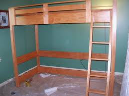 Free Loft Bed Woodworking Plans by Impressive Free Loft Bed With Desk Plans Best Ideas 1715