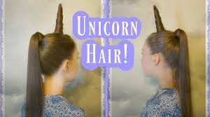 halloween color hair spray unicorn hairstyle tutorial for halloween or crazy hair day youtube
