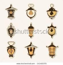set old lamps stock vector 219501250 shutterstock