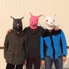 Black Mask Halloween Costume Cosplay Rabbit Masks Carnival Animal Head Party Masks Latex Mask