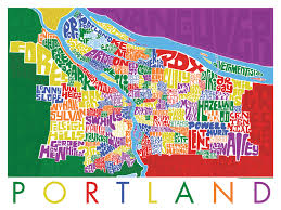 a map of portland oregon portland oregon type map poster i lost my