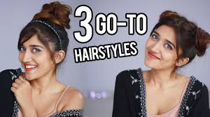 easy medium hairstyles for moms on the go 3 easy quick hairstyles for long medium wavy hair youtube
