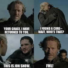 John Snow Meme - most entertaining game of thrones memes in the web