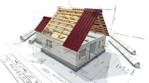 Building A House Plans 3d Animation Showing A Home Construction Process From The