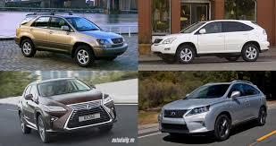 xe lexus chay bang dien lexus rx thay đổi như thế nào qua 4 thế hệ