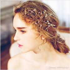 bridal hair clip wholesale wedding bridal hair accessories gold leaf