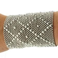 cuff metal bracelet images Sergio gutierrez liquid metal extra wide 3 5 quot diamond pattern cuff JPG