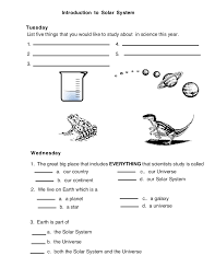 solar introduction solar system worksheet 1