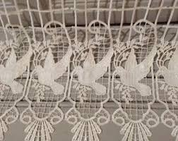 Bird Lace Curtains Lace Curtains Birds Etsy