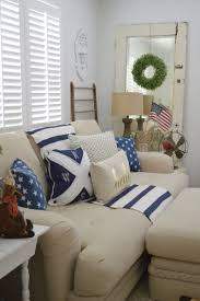 shabby cottage home decor patriotic coastal cottage living room cottage living rooms