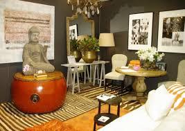 modern bohemian interior design dark brown wooden headboard