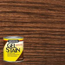 Minwax Water Based Stain With Minwax Water Based Wood Stain After by Minwax 1 Qt Hickory Gel Stain 66100 The Home Depot