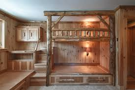 Log Bunk Bed Room Rustic Boston By Skiffington Homes - Log bunk beds