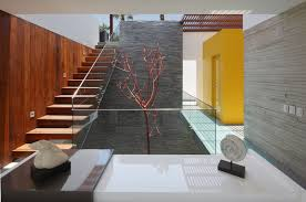 Modern Glass Stairs Design Sturdy And Contemporary Stainless Steel Handrail Staircase Design