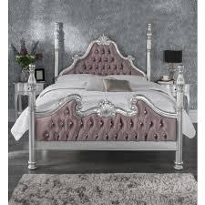 Antique Style Bed Frame Style Bed Frames Amusing Silver Leaf Kingsize 5ft Button