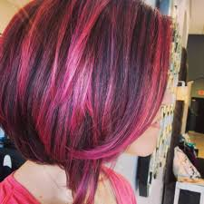 20 two tone hair styles brown hair magenta and dark brown