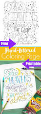 pitterandglink free hand lettered bible verse coloring sheet