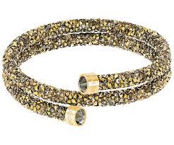 swarovski crystal gold plated bracelet images Crystaldust double bangle golden gold plating usa swarovski jpg