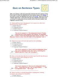 quiz on sentence types sentence linguistics languages