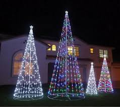 collapsible christmas tree homebrite 192 r c outdoor led cone tree w collapsible base 384