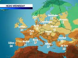 temperature map cnn com weather temperatures for europe
