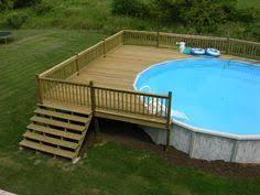 above ground pool deck framing agp deck question 17 u00279 wide deck