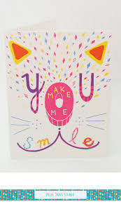 cute and colourful handmade greeting card to show appreciation to