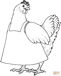 mother hen coloring page free printable coloring pages