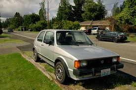 vintage volkswagen rabbit old parked cars 1983 volkswagen rabbit gti