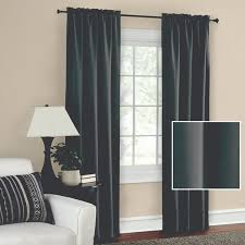 mainstays blackout solid woven window curtains set of two