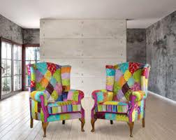 handmade patchwork chair etsy