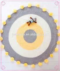Yellow Circle Rug 2017 Baby Colored Circles Handmade Crochet Round Rug Knitted