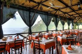 restaurant with panoramic view and homemade food in positano la