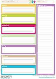 best free printable weekly planner 96 best meal planners images on pinterest happy planner