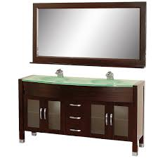 Glass Top Vanity Bathroom by Wyndham Collection Daytona 63 Inch Double Bathroom Vanity In