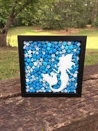 mermaid shadow box mermaid art shadow box art mermaid