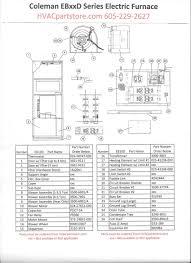 eb10d coleman electric furnace parts u2013 hvacpartstore