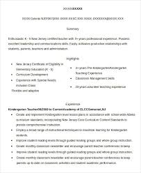 Elementary Teacher Resume Examples by Substitute Teacher Resume Example 5 Free Word Pdf Documents