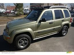 liberty jeep 2004 2004 cactus green pearl jeep liberty renegade 4x4 61966620
