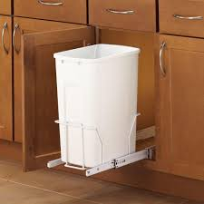 Kitchen Cabinet Trash Can Oak Wood Bright White Yardley Door Kitchen Garbage Can Cabinet