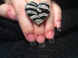 clear acrylic nails youtube