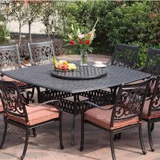 darlee st cruz 9 piece cast aluminum patio dining set with lazy
