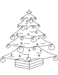 Christmas Tree With Ornaments Coloring Page Free Printable Tree Coloring Pages Ornaments