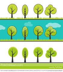cute trees free tree vector