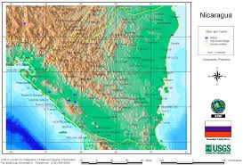 Relief Map Relief Map Of Nicaragua