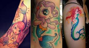 fancy a little out of the blue mermaid tattoo here are 25 cute