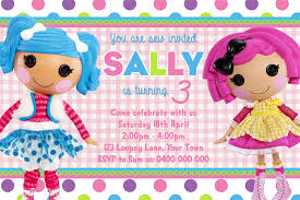 girls birthday invitation lalaloopsy d01 three peas designs