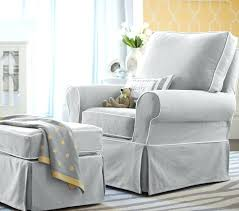 ottoman slipcover for overstuffed chair and ottoman white